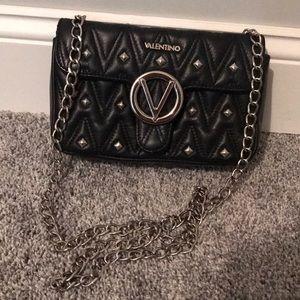 Valentino Black Studded Alice D Shoulder Bag
